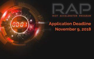 Apply now! RIoT RAP Spring 2019 deadline Nov. 9