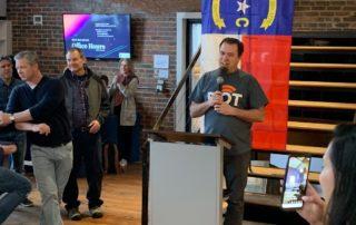 image of Tom Snyder delivering State of the Region address