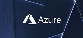 azure logo on blue background