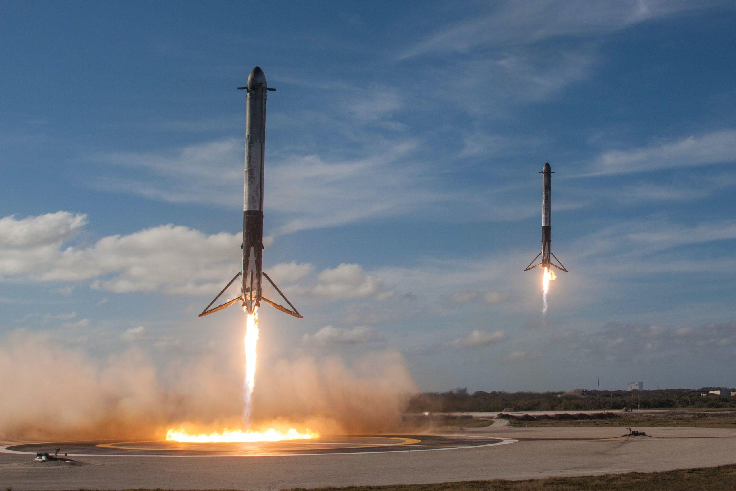 image of rocket blasting off